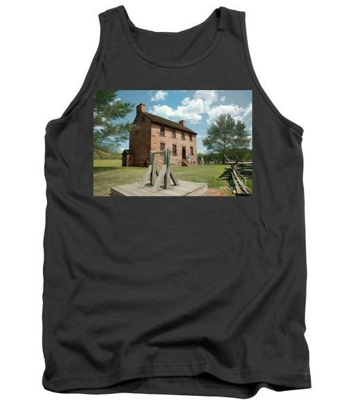 Stone House At Manassas With Digital Effects Tank Top