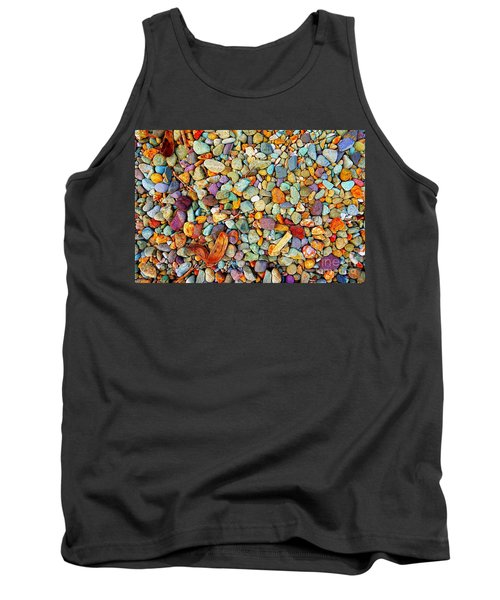 Stones And Barks On Beach Tank Top