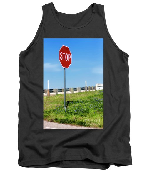 Stop For The Blue Bonnets Tank Top by Joan Bertucci