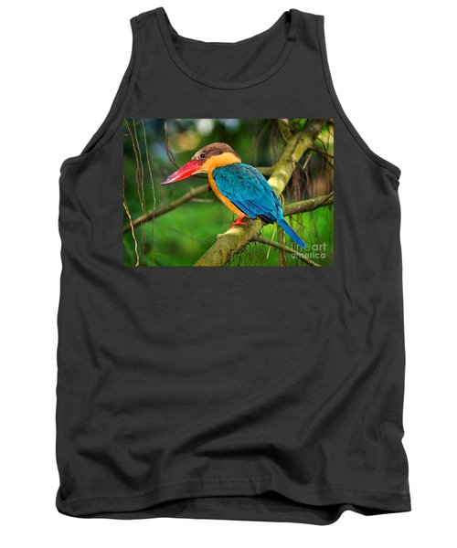 Stork-billed Kingfisher Tank Top by Louise Heusinkveld