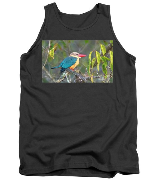 Stork-billed Kingfisher Tank Top by Pravine Chester
