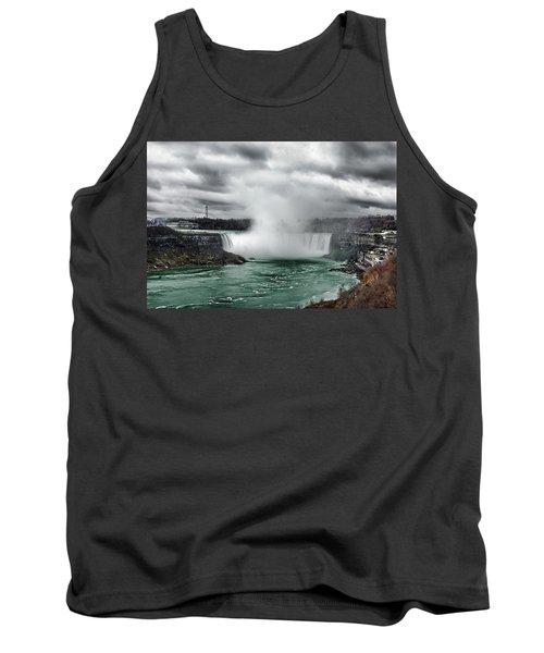 Storm At Niagara Tank Top