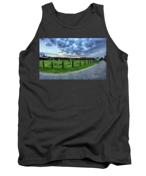 Storm Clouds Over Main Street Tank Top by John Loreaux