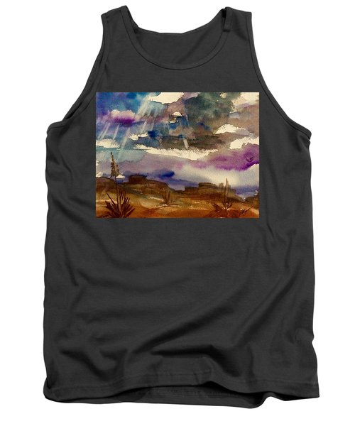 Storm Clouds Over The Desert Tank Top by Ellen Levinson