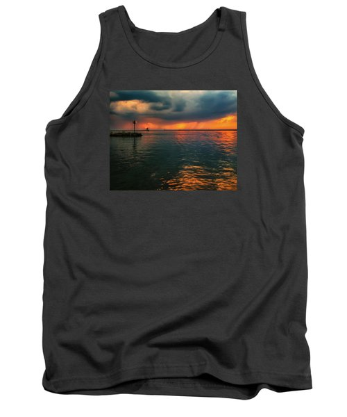 Storm In Lorain Ohio At The Lighthouse Tank Top