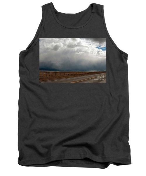 Storm On Route 287 N Of Ennis Mt Tank Top