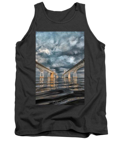Stormy Chesapeake Bay Bridge Tank Top