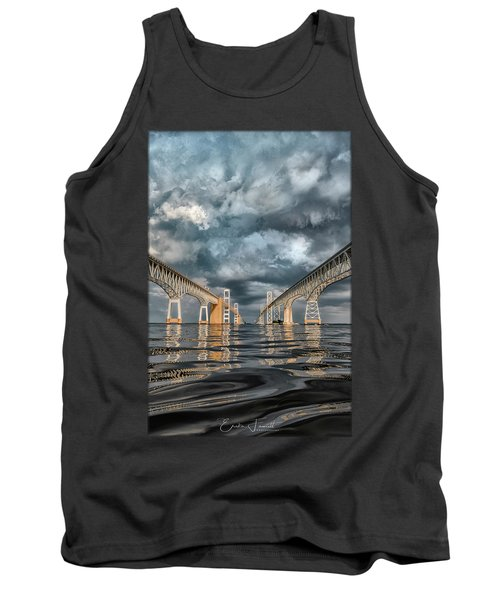 Stormy Chesapeake Bay Bridge Tank Top
