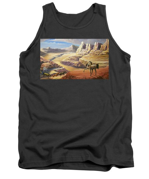 Tank Top featuring the painting Stormy by Loxi Sibley
