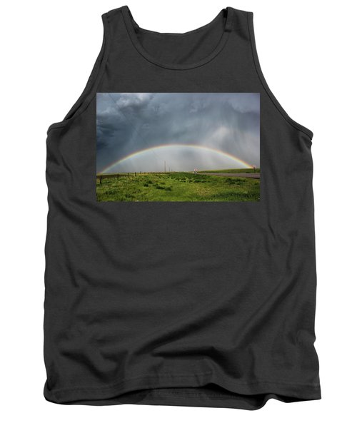 Tank Top featuring the photograph Stormy Rainbow by Ryan Crouse