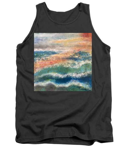 Tank Top featuring the painting Stormy Seas by Kim Nelson