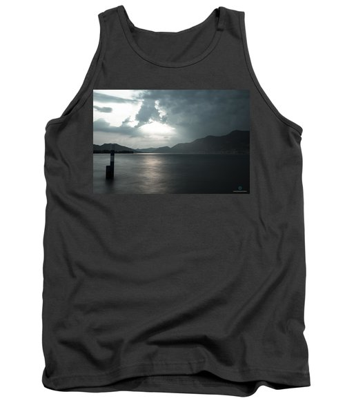 Stormy Sunset On The Lake Tank Top