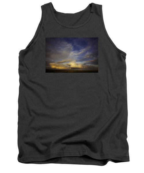 Tank Top featuring the photograph Stormy Sunset by Toni Hopper