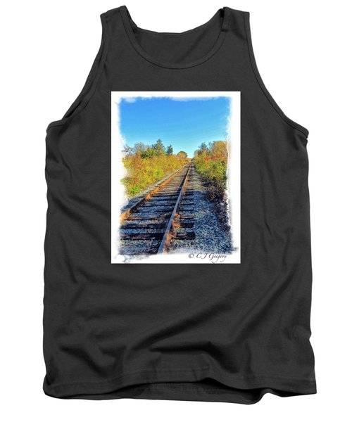 Tank Top featuring the photograph Straight Track by Constantine Gregory