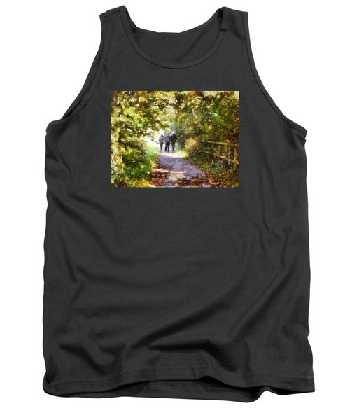 Strangers On A Footpath / In To The Light Tank Top