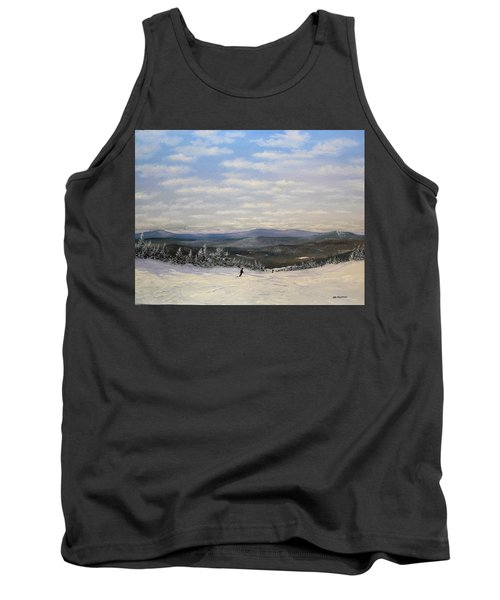 Tank Top featuring the painting Stratton Skiing by Ken Ahlering