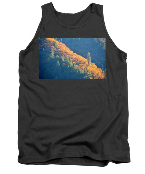 Tank Top featuring the photograph Streak Of Gold by AJ Schibig