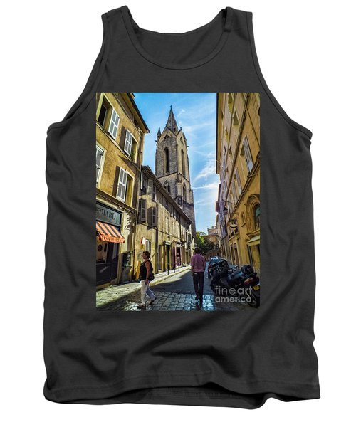 Street In Aix Tank Top by Karen Lewis