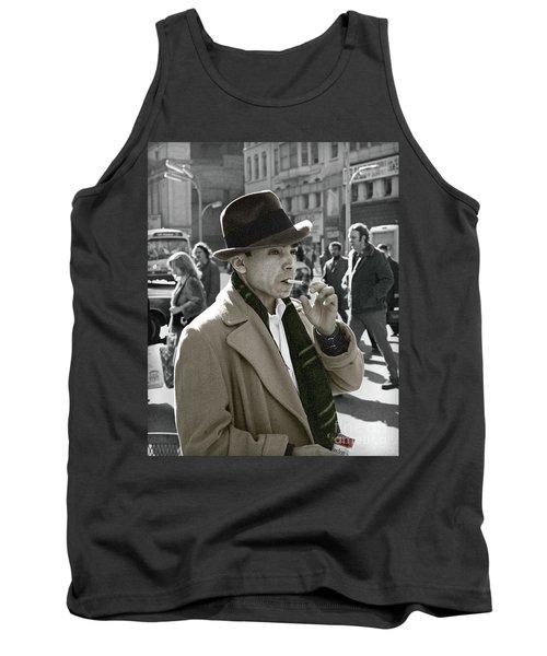 Tank Top featuring the photograph Street Smoking Man by Martin Konopacki