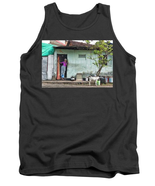 Tank Top featuring the photograph Streets Of Kochi by Marion Galt
