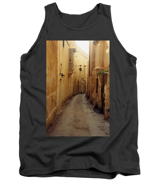 Tank Top featuring the photograph Streets Of Malta by Debbie Karnes