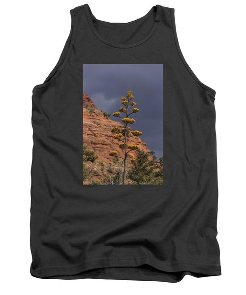 Stretching Into A Threatening Sky Tank Top by Laura Pratt