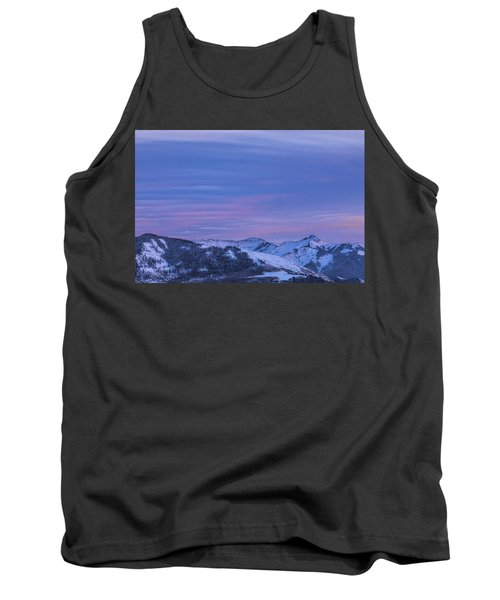 Striped Sky At Day's End Tank Top