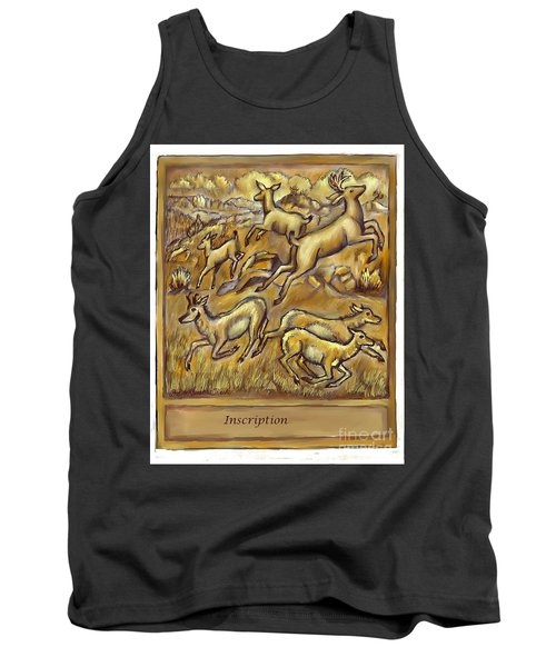 Study For Pronghorn And Deer Sculpture Tank Top by Dawn Senior-Trask