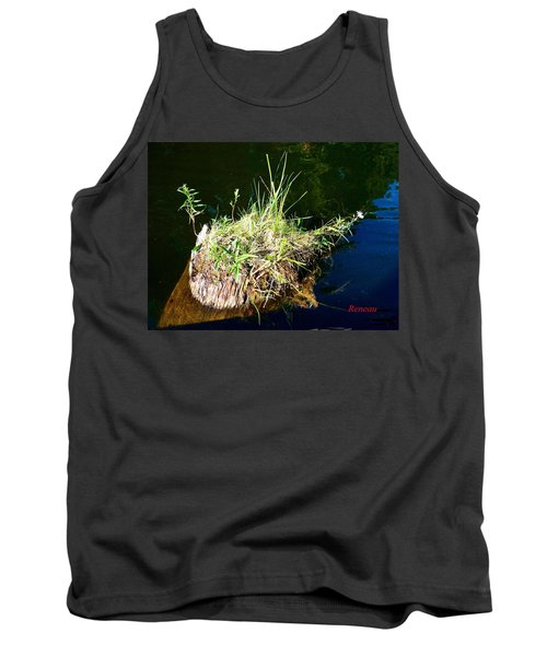 Tank Top featuring the photograph Stump Art 11 by Sadie Reneau