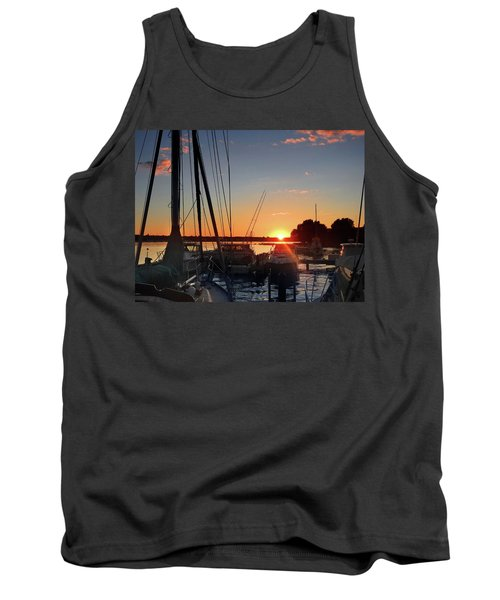 Sturgeon Bay Sunset Tank Top by Rod Seel