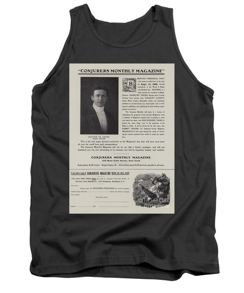 Subscription Form For Conjurers Monthly Magazine, Editor In Chief Harry Houdini, Circa 1906 Tank Top