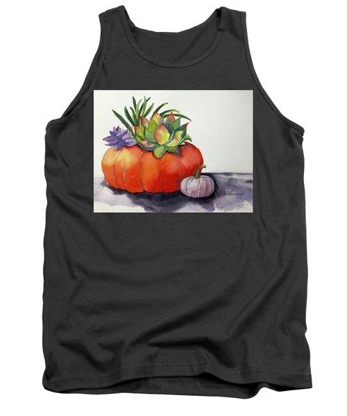 Succulents In Pumpkin Tank Top