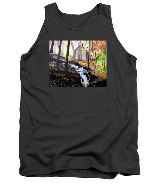 Tank Top featuring the painting Sugar Shack by Tom Riggs