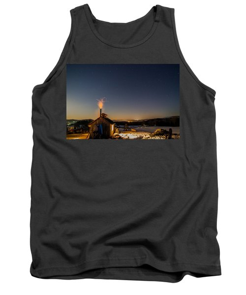 Sugaring View With Stars Tank Top by Tim Kirchoff