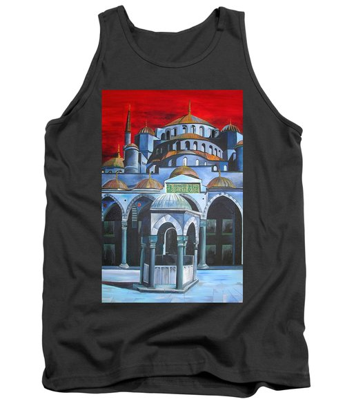 Sultan Ahmed Mosque Istanbul Tank Top by Tracey Harrington-Simpson