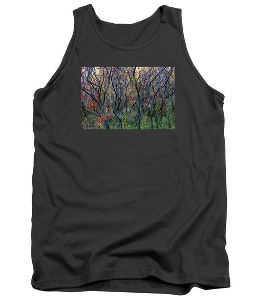 Tank Top featuring the photograph Sumac Grove by Steven Clipperton