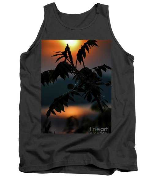 Tank Top featuring the photograph Sumac Sunrise Silhouette by Henry Kowalski