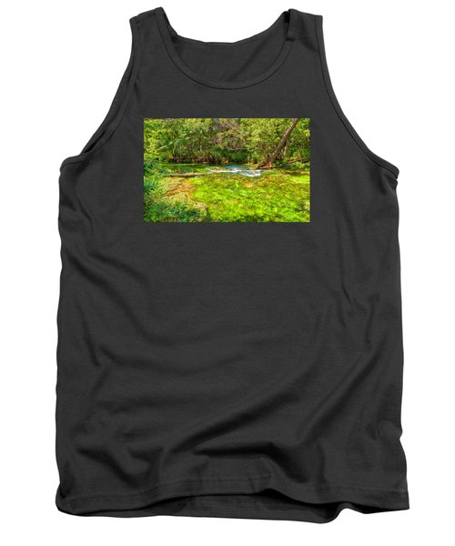 Tank Top featuring the photograph Summer At Alley Springs by John M Bailey