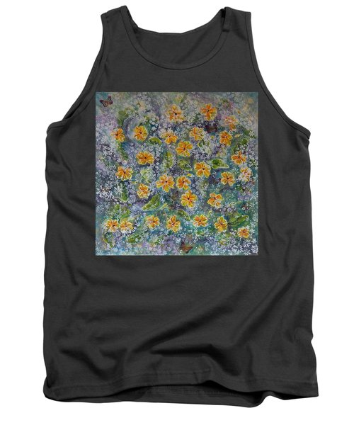 Spring Bouquet Tank Top by Theresa Marie Johnson