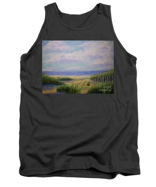 Summer Day At The Beach Tank Top by Stanton Allaben