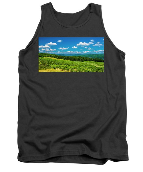 Tank Top featuring the photograph Summer Fields by Steven Ainsworth