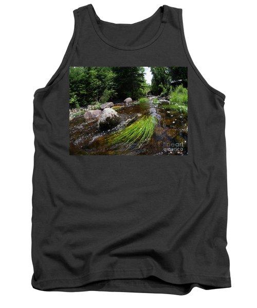 Summer Flow Of Water Near Rangeley Maine  -63322 Tank Top