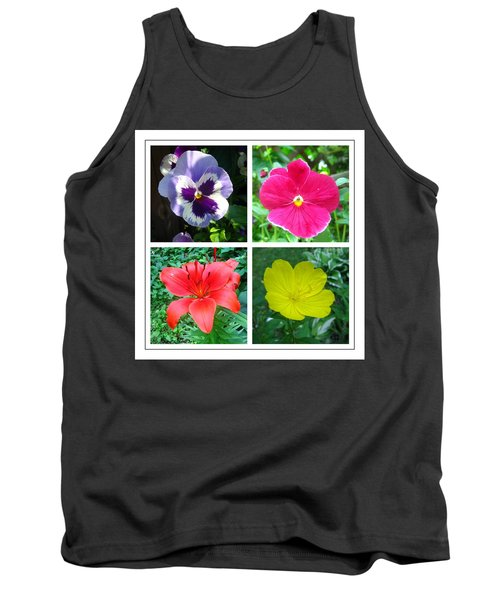 Summer Flowers Window Tank Top by Maciek Froncisz