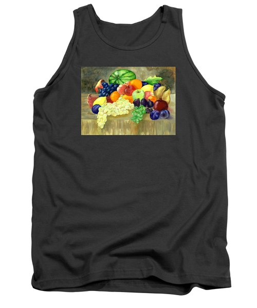 Tank Top featuring the painting Summer Harvest by Sharon Mick
