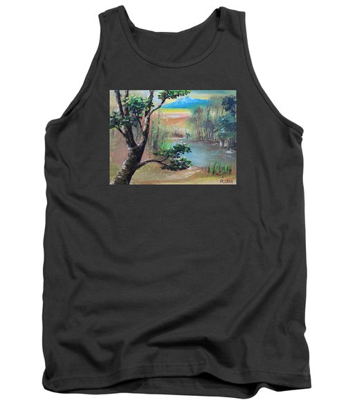 Summer Leaves Tank Top by Remegio Onia
