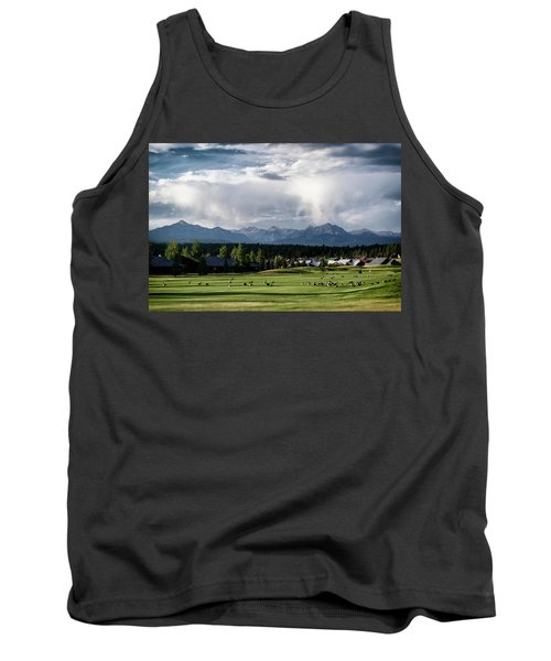 Summer Mountain Paradise Tank Top