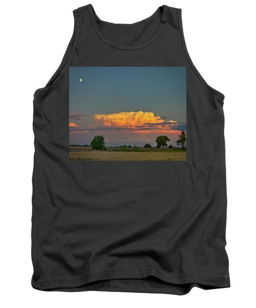 Tank Top featuring the photograph Summer Night Storms Brewing And Moon Above by James BO Insogna