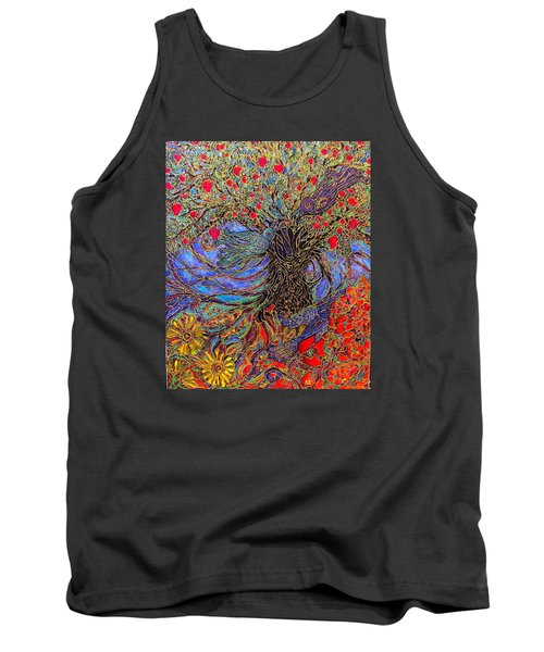 Enchanted Garden Tank Top by Rae Chichilnitsky