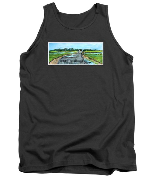 Tank Top featuring the painting Summer On Lieutenant's Island by Rita Brown