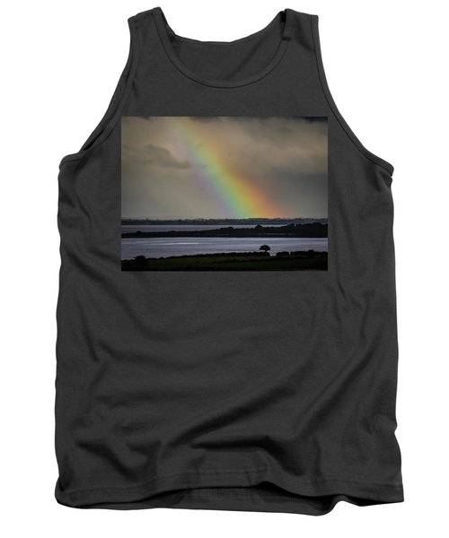 Tank Top featuring the photograph Summer Rainbow Over Shannon Estuary by James Truett